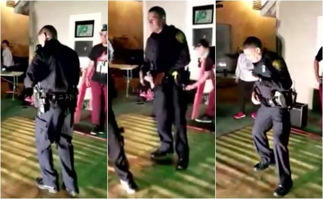 Policía atiende llamado de una fiesta ruidosa pero ¡se queda a bailar!