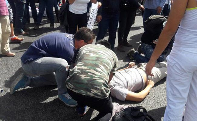 Atropellan a estudiante en marcha contra gasolinazo