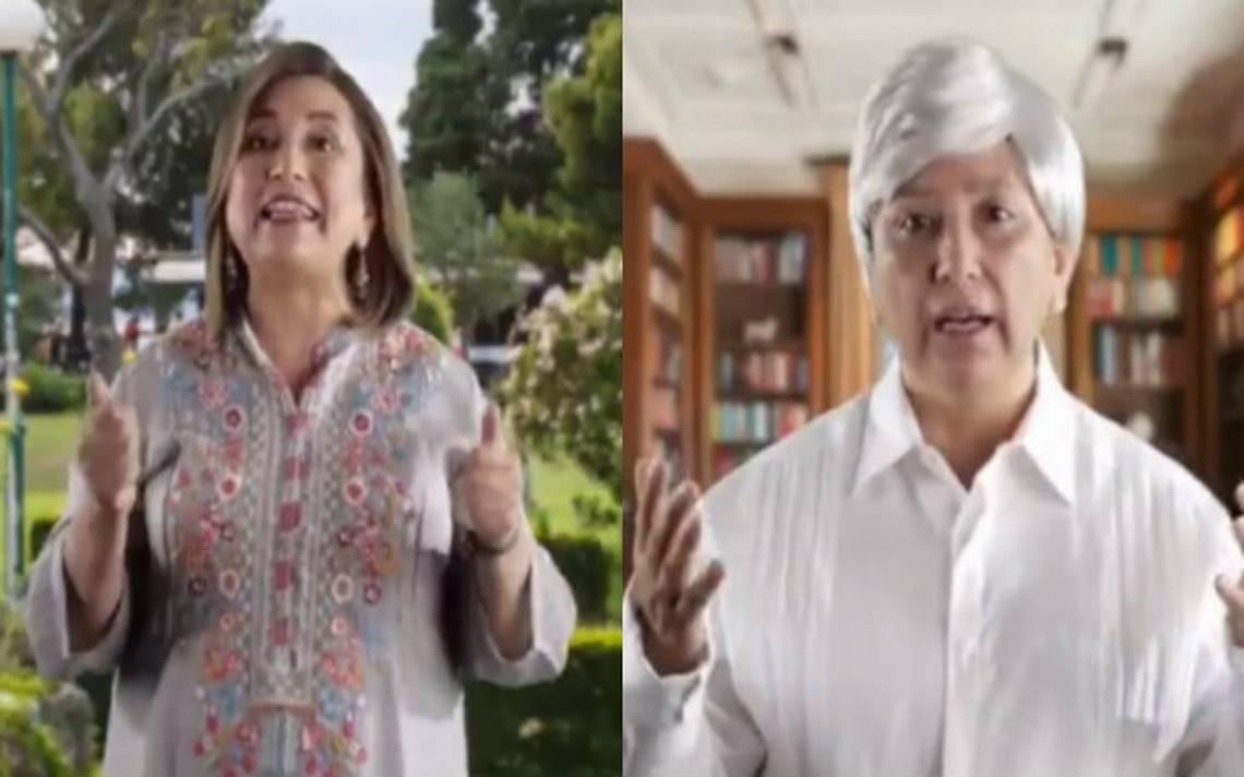[Video] Xóchitl Gálvez se disfraza de AMLO y critica a candidatos de Morena