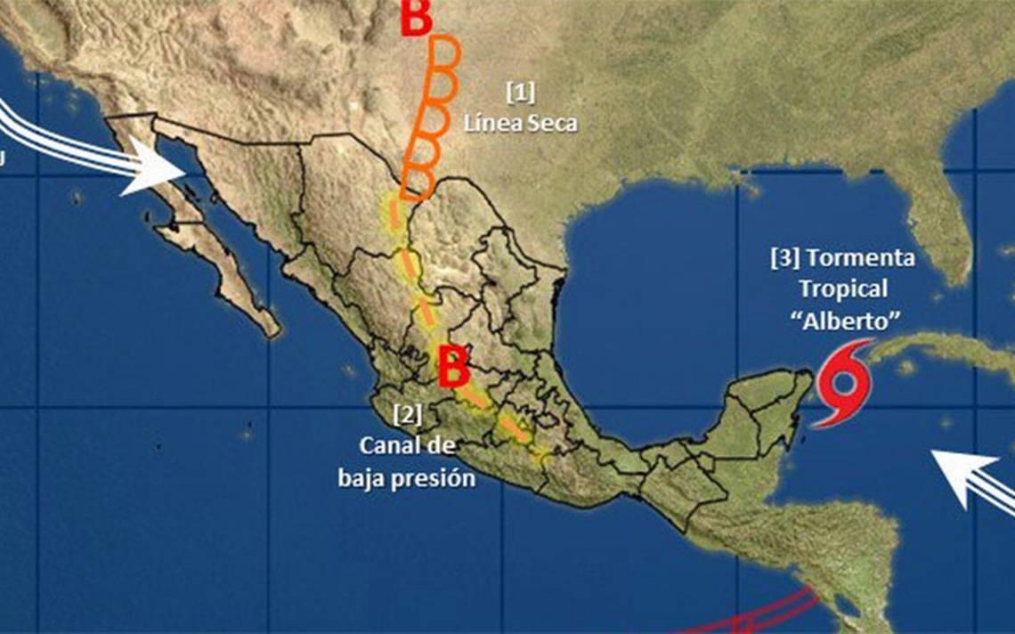 Tormenta Alberto se aleja de costas mexicanas