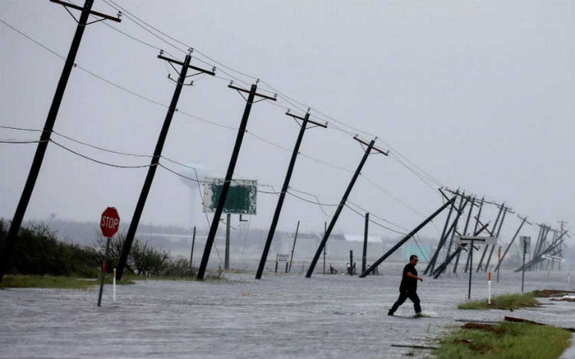 Suman cinco muertos por huracán Harvey