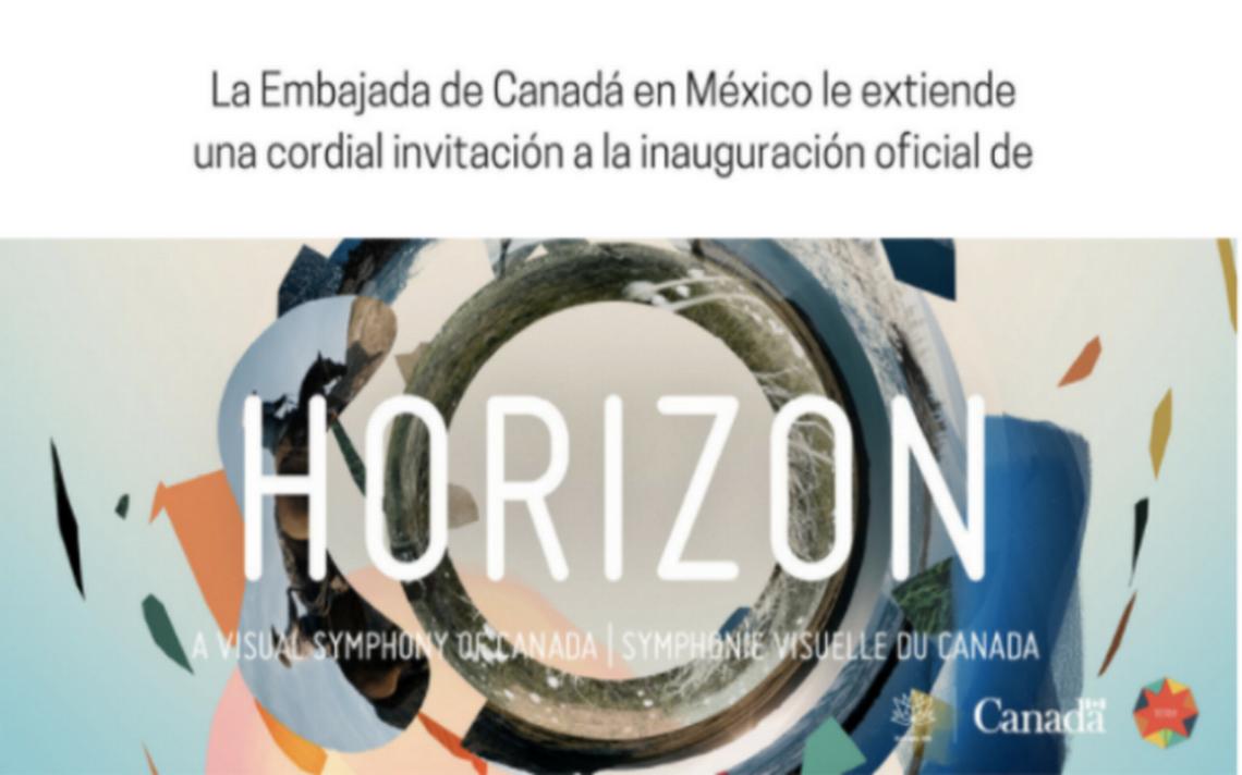 'Horizont' la proyección canadiense en la CDMX de forma gratuita