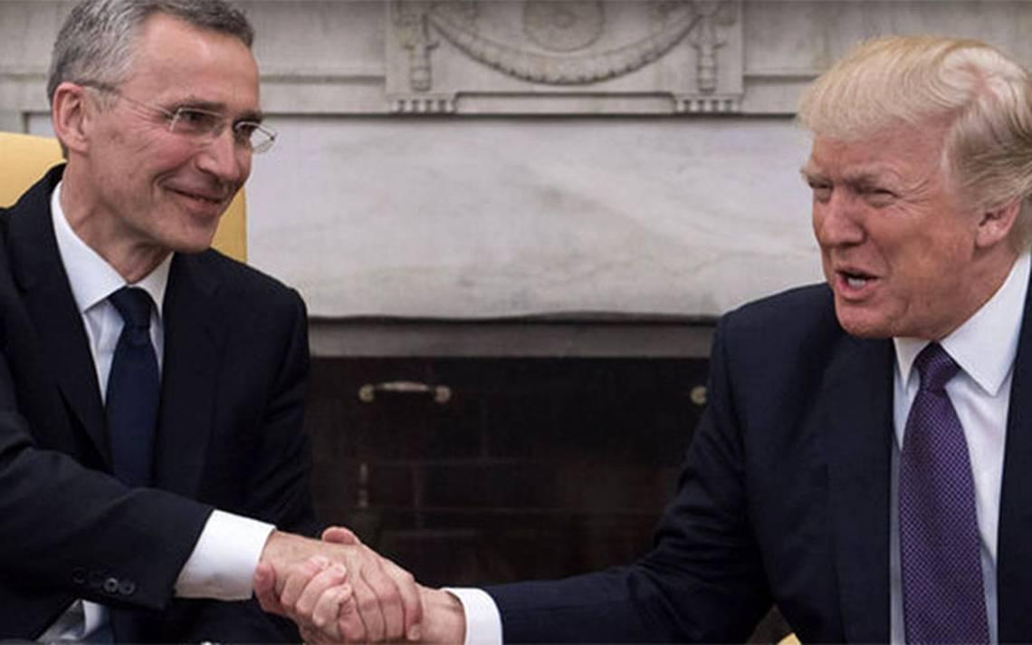 """Trump recibirá a secretario de la OTAN para """"reafirmar compromiso"""" el 17 de mayo"""