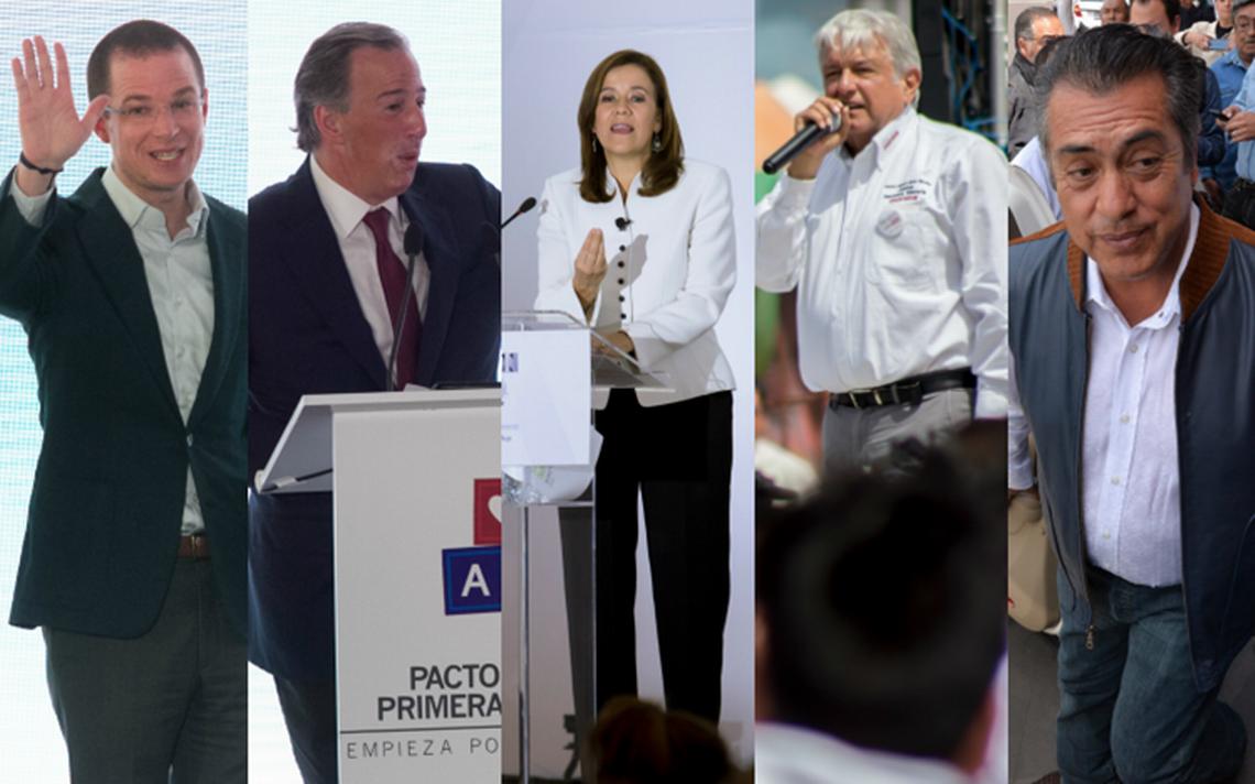 INE define orden de participación de candidatos en primer debate presidencial
