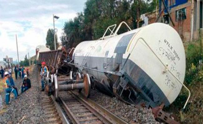 Se descarrila tren en la estación Rosales de Sinaloa