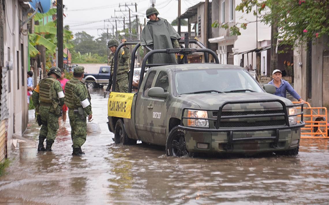 Lluvias en Tabasco dejan 5 personas lesionadas
