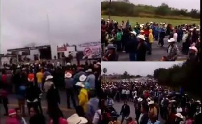Cierran carretera Cd. Victoria-Monterrey por protestas
