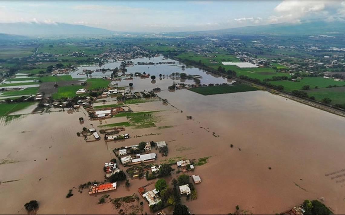 Intensas lluvias afectan cultivos en Guanajuato
