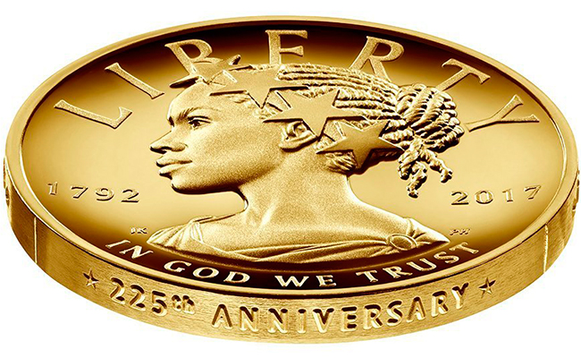 Al menos así  se verá en  nueva moneda  de oro en EU