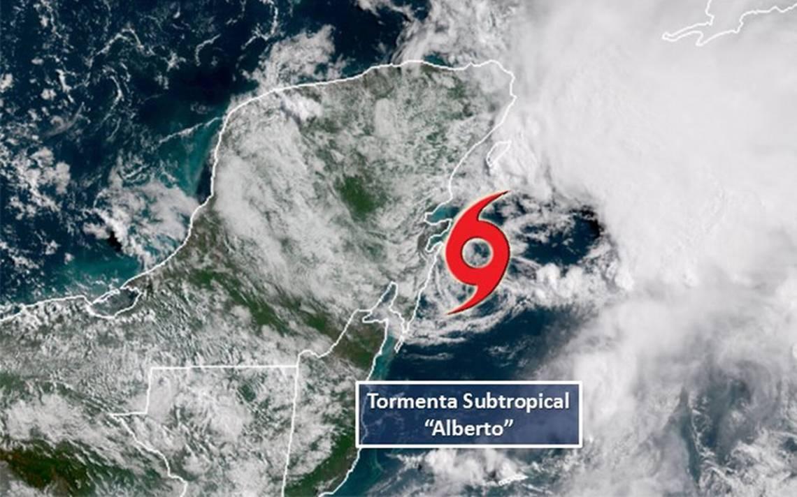 """Se forma """"Alberto"""", la primera tormenta de la temporada de huracanes en el Atlántico"""