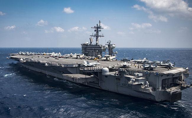 Aseguran que portaaviones de EU aún no navega hacia Corea del Norte