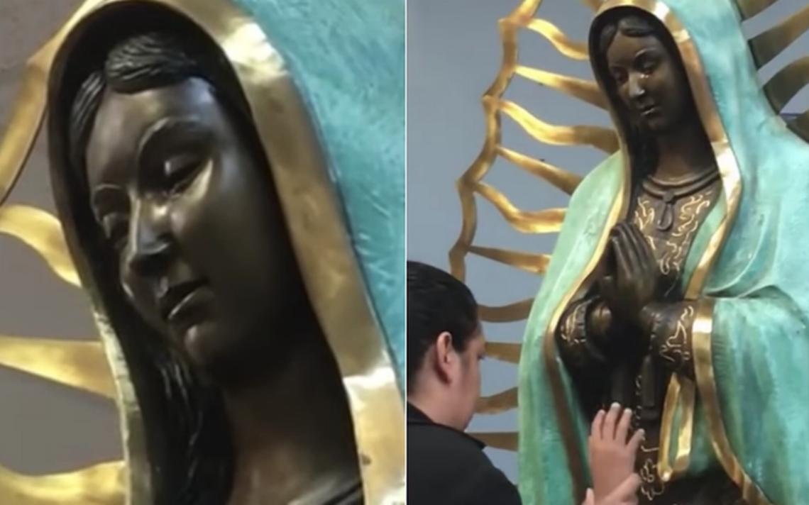 Sorprende estatua de Virgen de Guadalupe que derrama lágrimas con olor a rosas