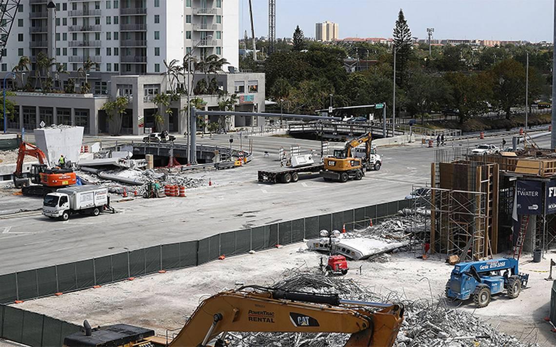 Reabren tramo de carretera de Miami donde cayó puente peatonal
