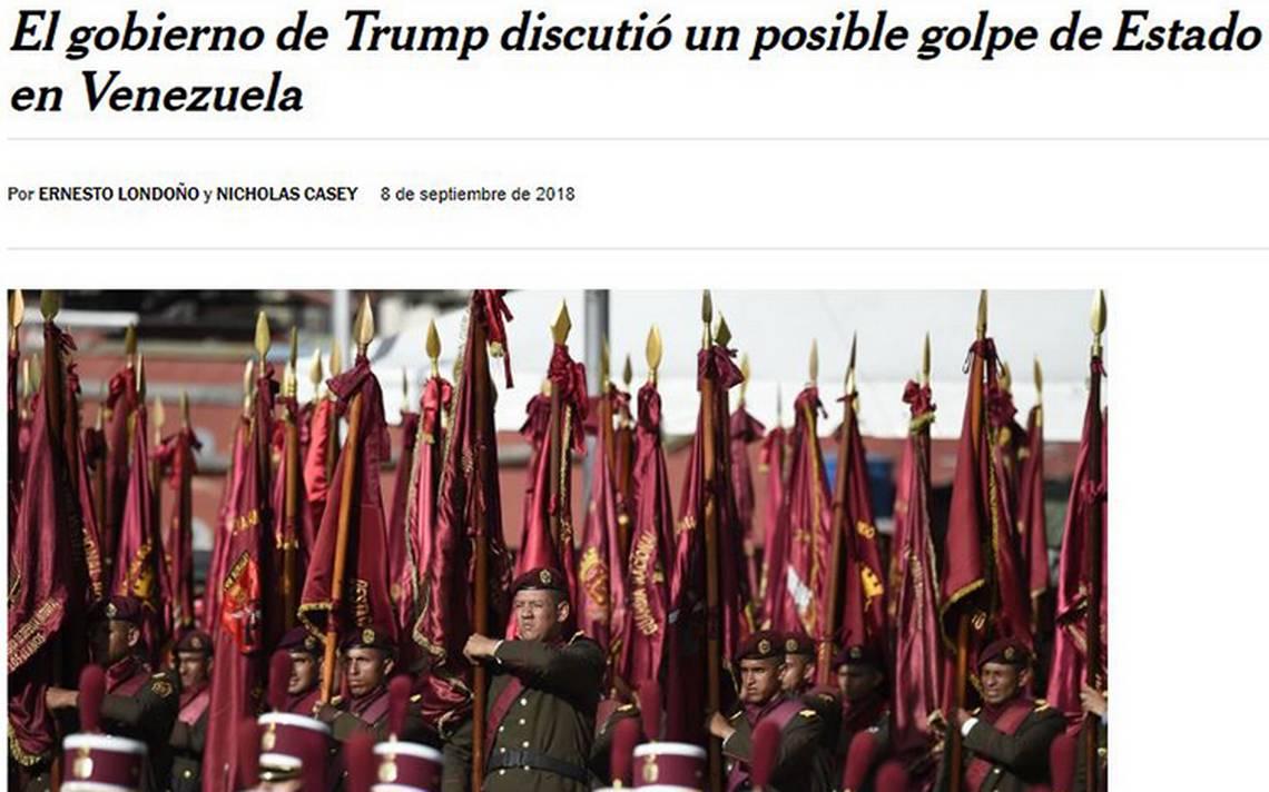 EU discute golpe de estado en Venezuela con militares rebeldes: NYT