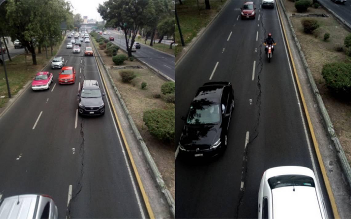 [Video] Larga grieta en Viaducto alerta a vecinos; autoridades ya la repararán