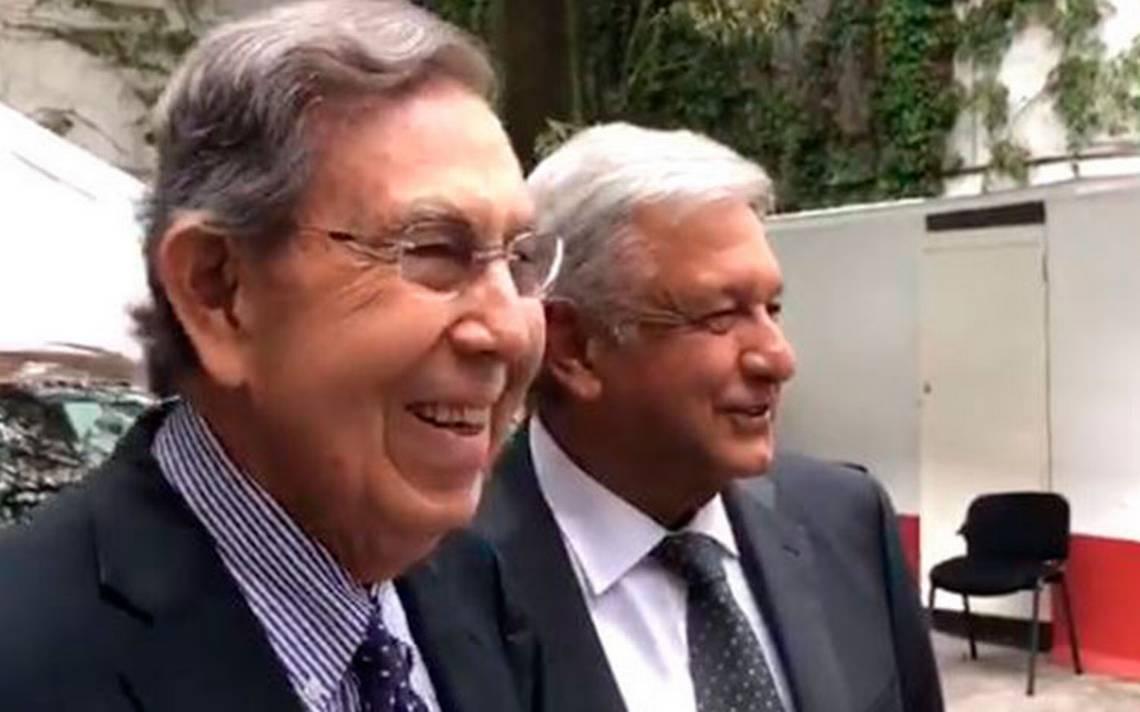 Vine a saludar al amigo, afirma Cuauhtémoc Cárdenas tras encuentro con AMLO