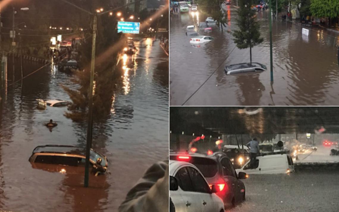 Intensas inundaciones paralizan Periférico y Zaragoza; activan alerta roja