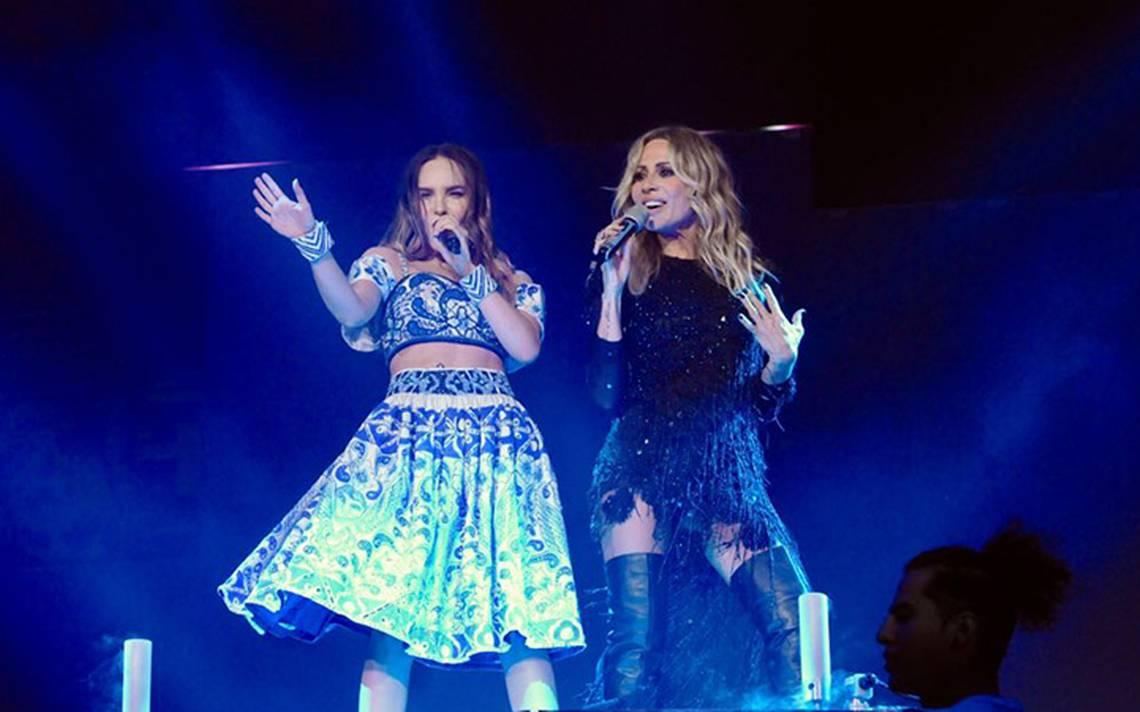 Inolvidable concierto de Marta Sánchez, Paulina Rubio y Belinda en el Palacio de los deportes