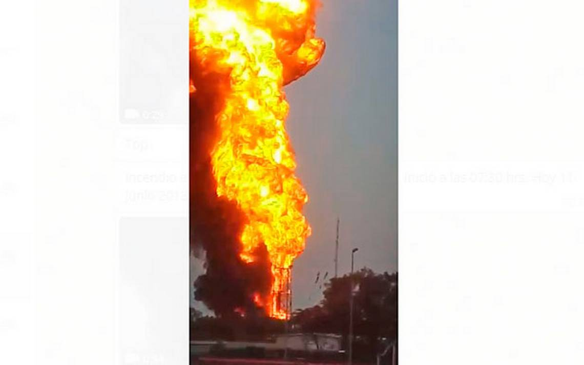 Se incendia refinería en Minatitlán; no hay heridos