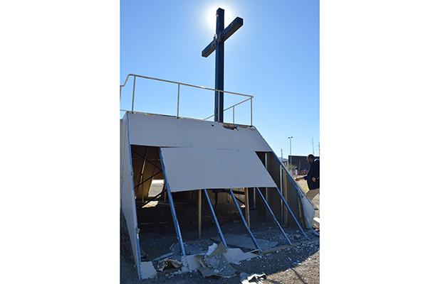 Abandonado punto donde oró el Papa en Cd. Juárez