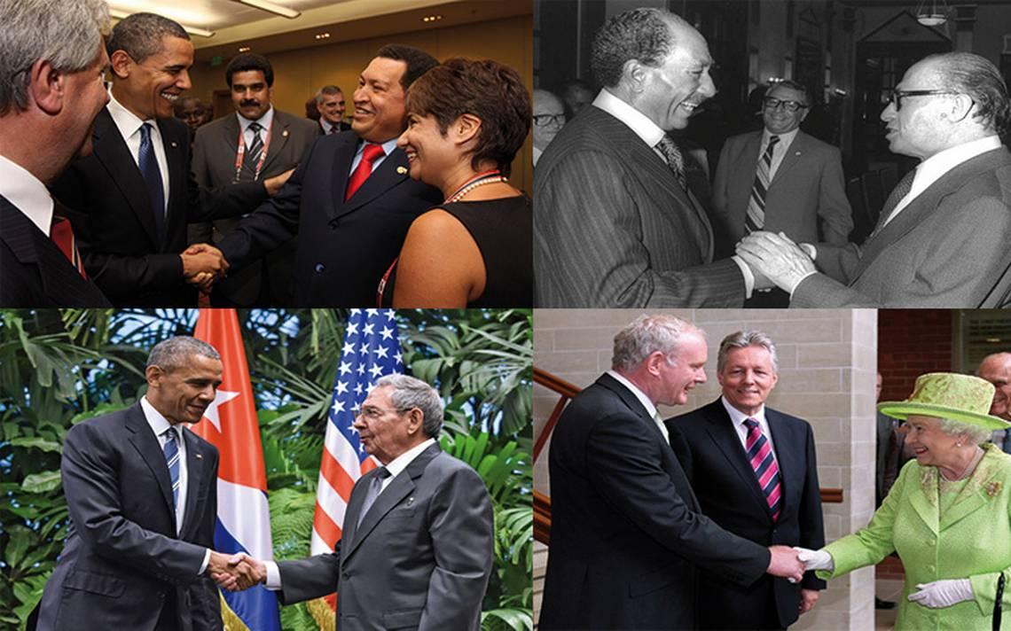 LA�deres mundiales que han marcado la historia con saludo de  de paz