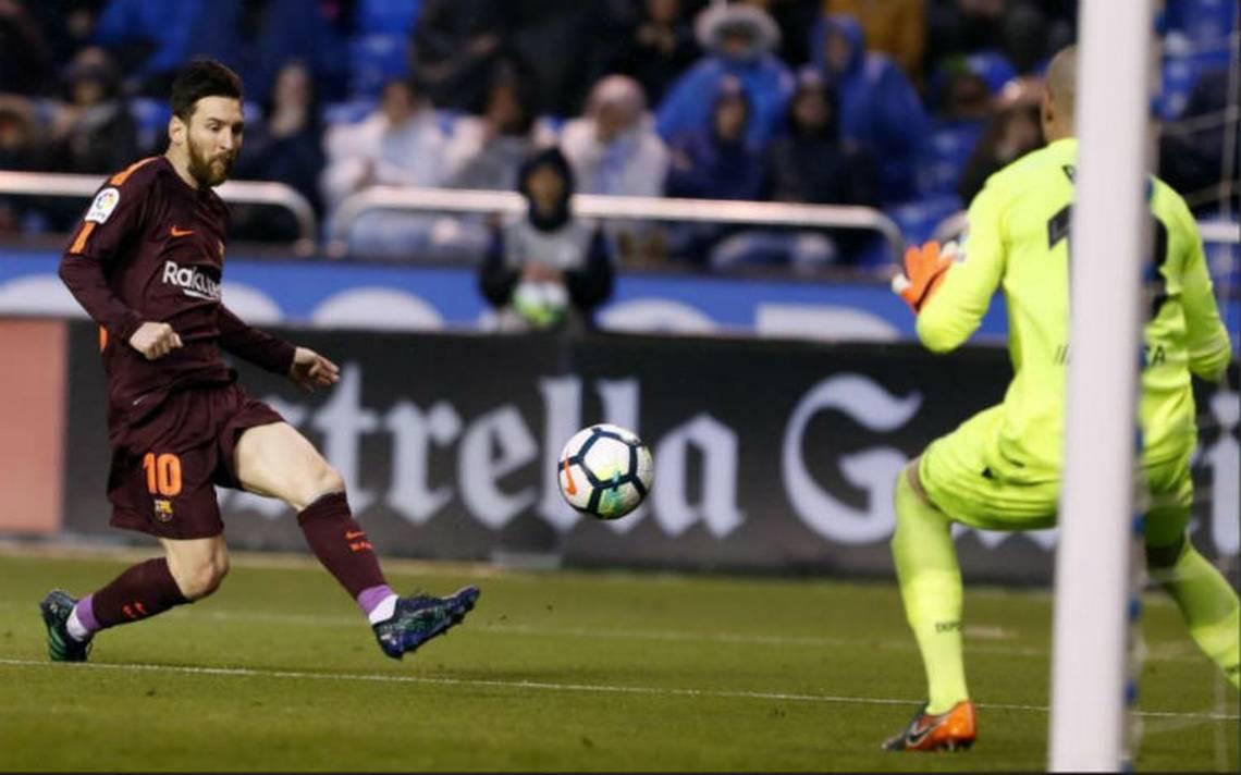 Barcelona campeA?n de EspaA�a con triplete de Messi