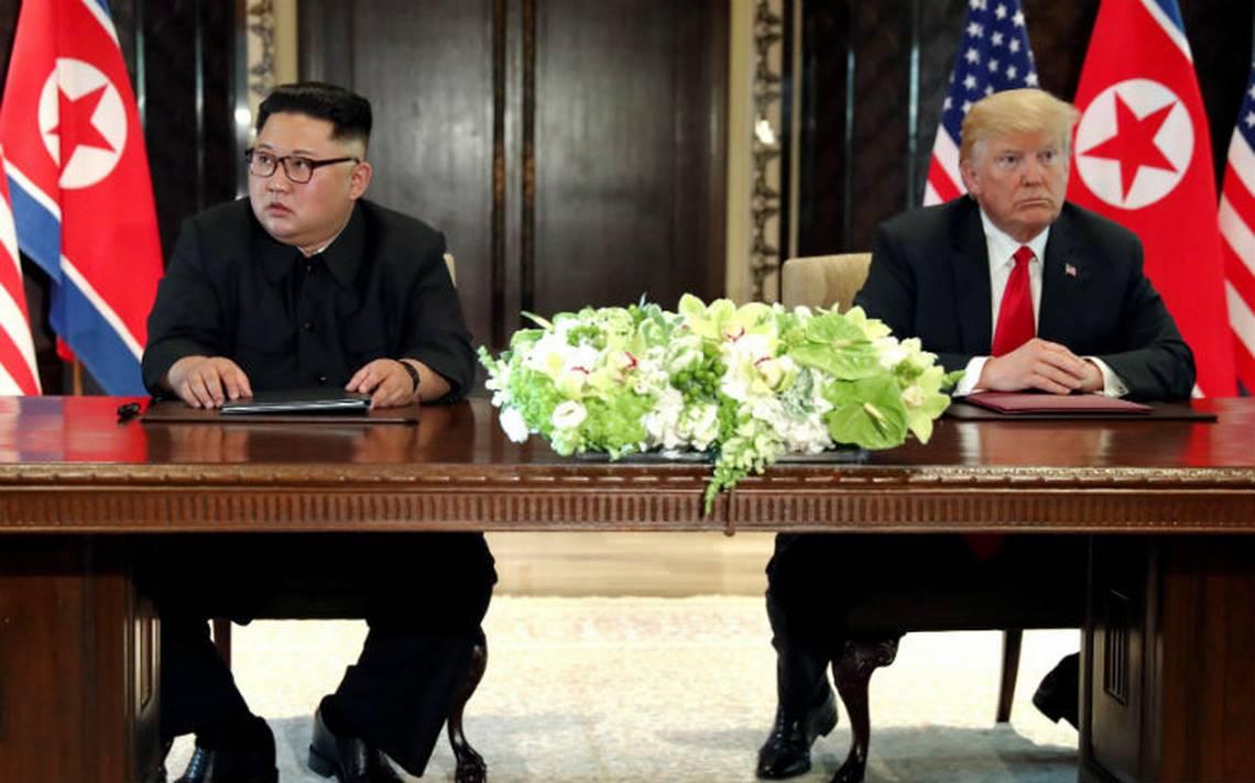 """EU estaría """"en guerra"""" con Corea del Norte si no fuera por mí: Trump"""