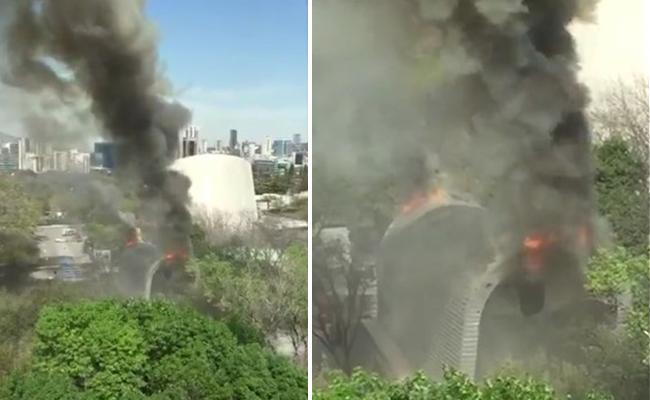 Se incendia Planetario Alfa en Monterrey; no hay heridos