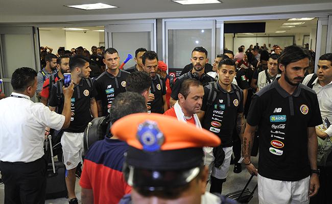 La Selección de Costa Rica llega a la CDMX
