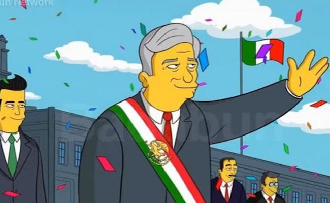¿Los Simpson predicen la victoria de AMLO en 2018?