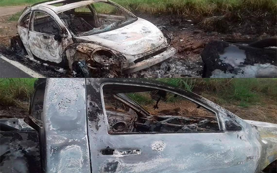 Hallan calcinadas camionetas de los jóvenes tlaxcaltecas desaparecidos en Oaxaca