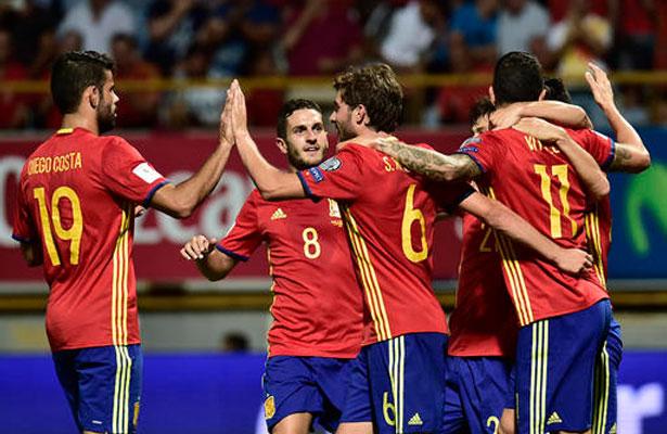 La Selección Española en acción en eliminatorias europeas