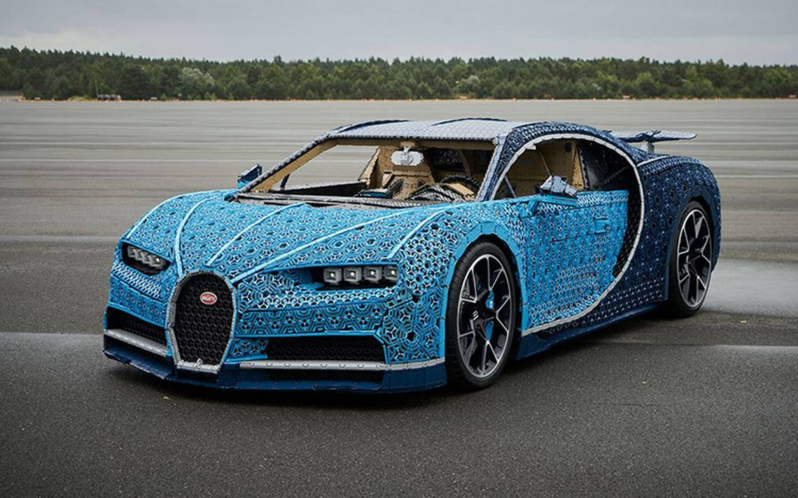 Conoce el Bugatti Chiron construido con millones de piezas Lego y que se puede conducir