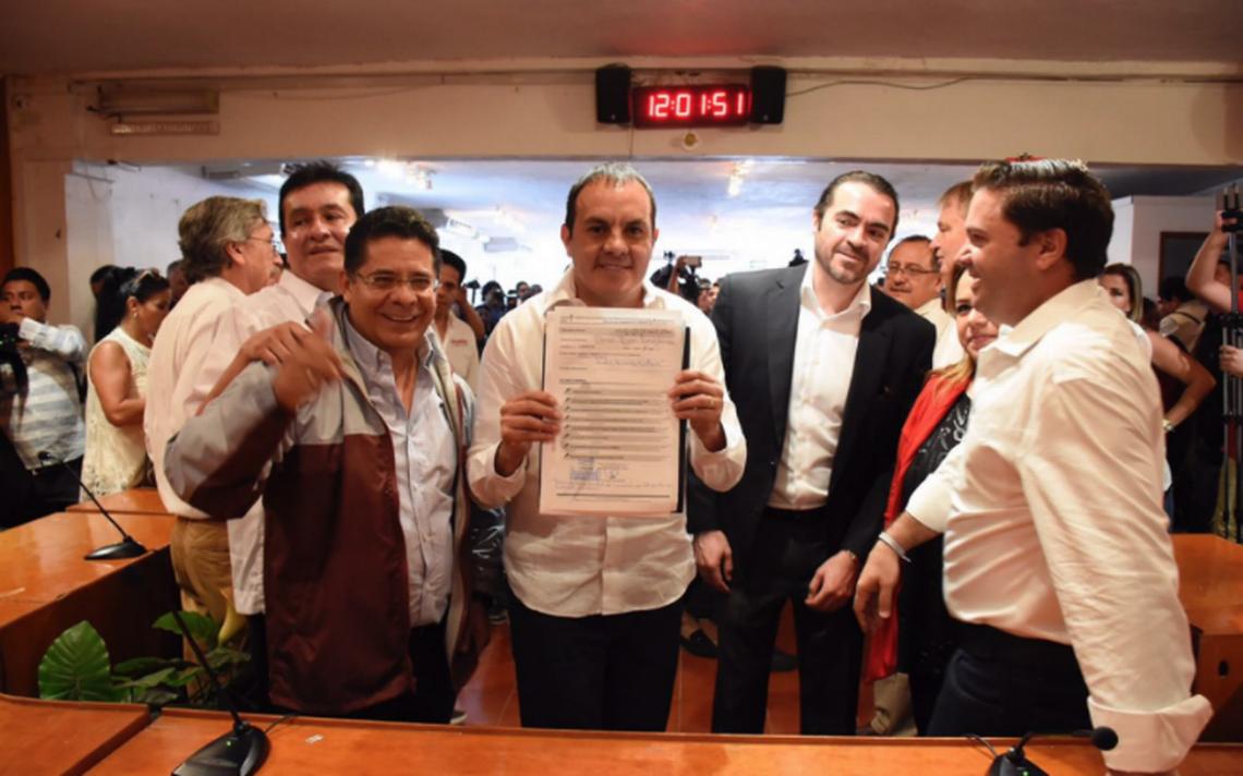 Cuauhtémoc Blanco se registra como candidato al gobierno de Morelos