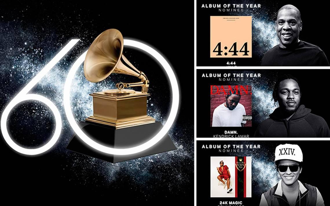 Estos son los nominados para los Premios Grammys 2018