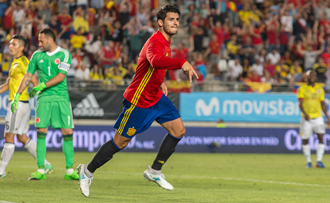 España y Colombia empataron 2-2
