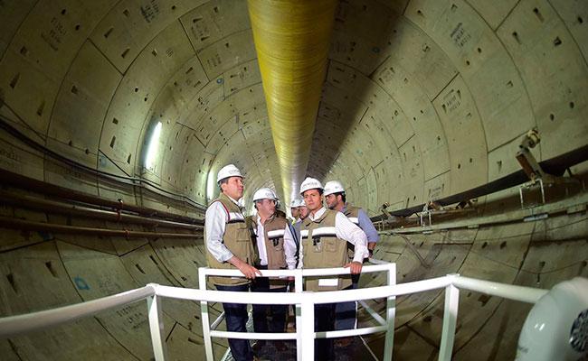 EPN supervisa avance en obras del Túnel Emisor Poniente II