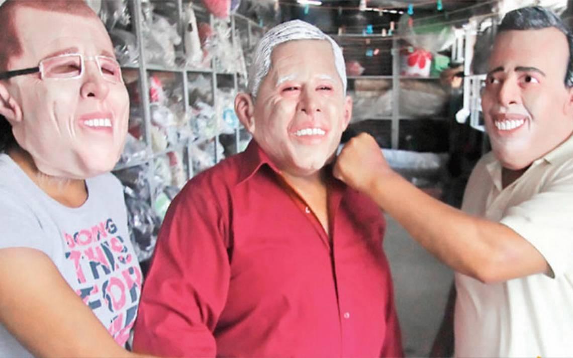 ¿Quién realiza las máscaras de látex de los candidatos presidenciales?