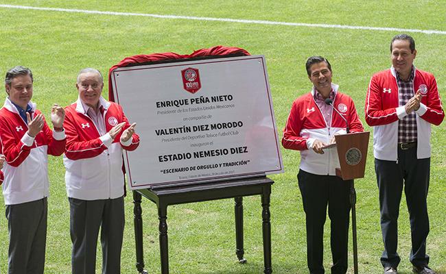Enrique Peña Nieto inauguró nuevo estadio