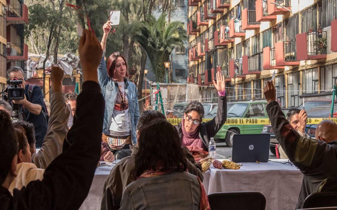 Damnificados del 19S piden reconstrucción, no promesas de campaña
