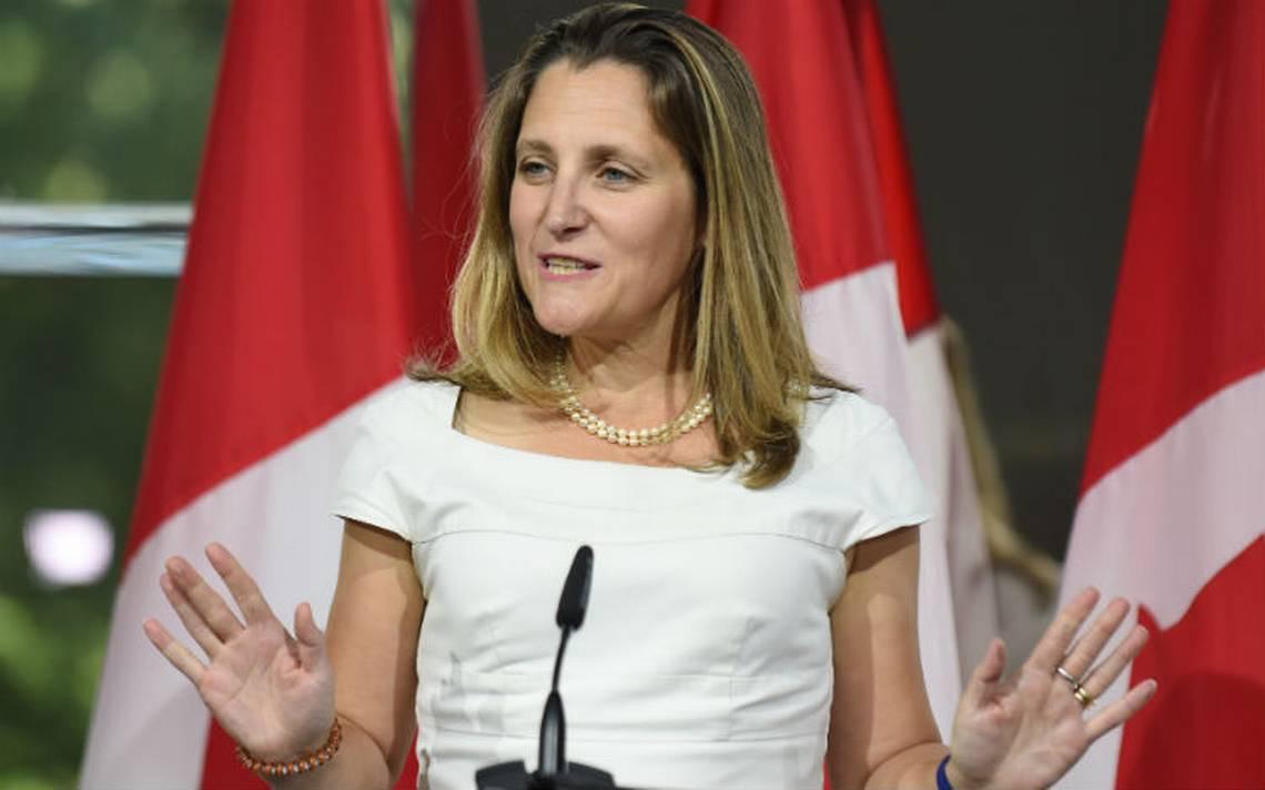 """Un """"inminente"""" acuerdo entre EU y Canadá es posible, dice Freeland"""