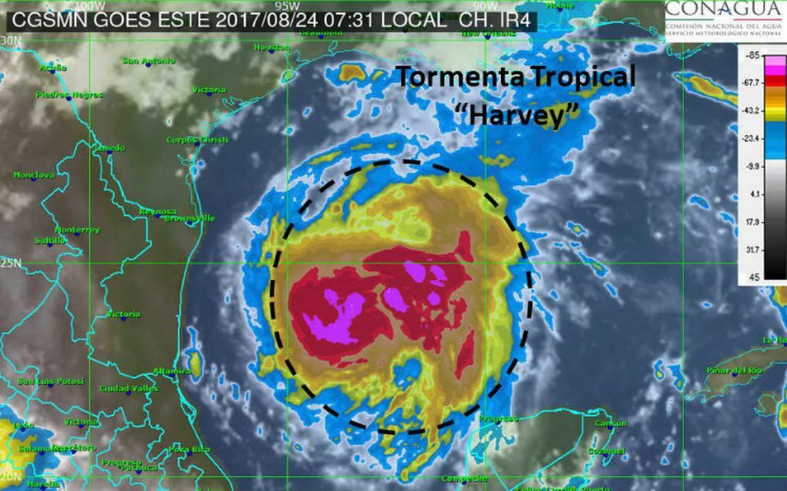 Tormenta tropical Harvey avanza hacia Texas, mañana podría ser huracán