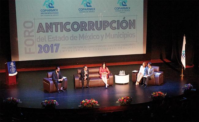 Organiza Coparmex y Edomex foro anticorrupción