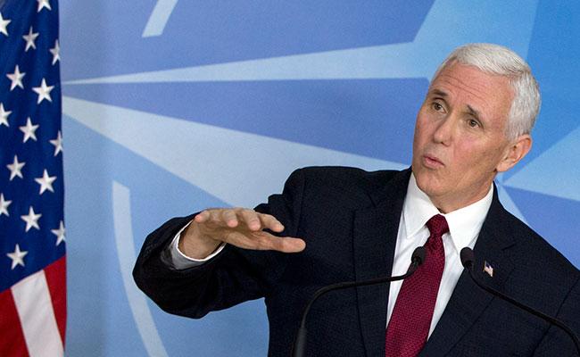 Vicepresidente de EU confunde bandera de Nicaragua con la de Israel