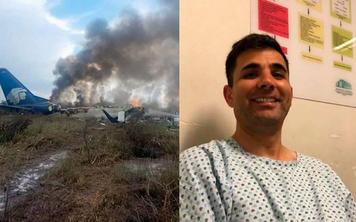"""""""Fue un milagro de Jesús"""", pasajero graba momento en que se accidenta avión en Durango"""
