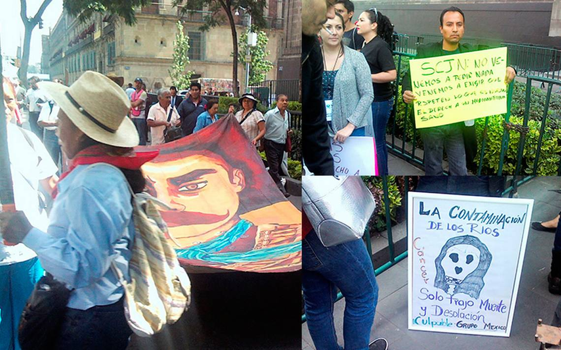 Tenemos derecho a decidir sobre materia ambiental, dicen manifestantes frente a la SCJN