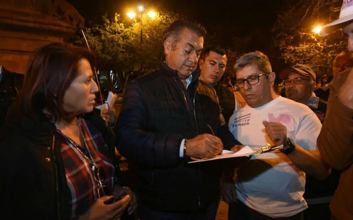 El Bronco busca 20 mil firmas en Querétaro