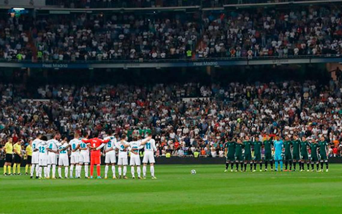 Emotivo minuto de silencio en el Bernabéu por víctimas en México