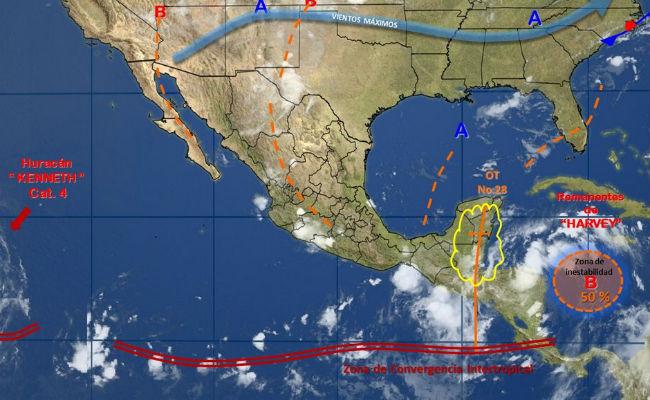 Huracán Kenneth alcanza la categoría 4, sin afectar costas mexicanas