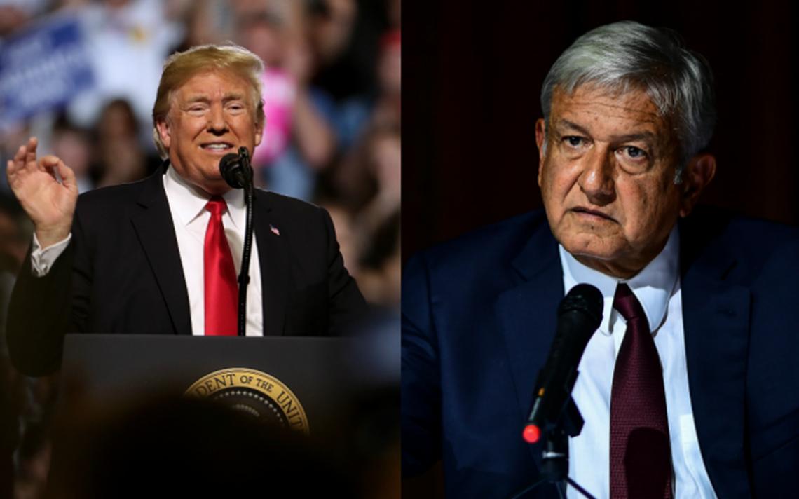 Trump recibe la carta de López Obrador y espera trabajar juntos